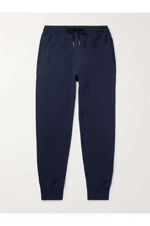TOM FORD Men Pants - Slim-Fit Tapered Cotton, Silk and Cashmere-Blend Sweatpants
