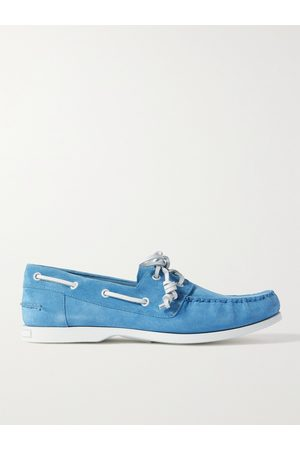 Manolo Blahnik Men Loafers - Sidmouth Suede Boat Shoes