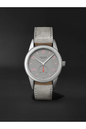 Nomos Glashütte Club Campus Hand-Wound 36mm Stainless Steel and Leather Watch, Ref. No. 712