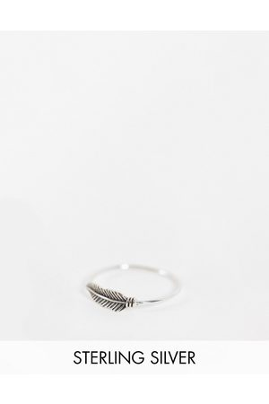 The Status Syndicate Status Syndicate sterling feather ring