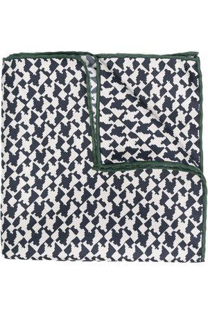 CANALI Men Scarves - Abstract-print silk scarf