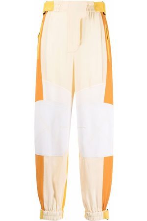 Stella McCartney Women Pants - Lacey patchwork-design tapered trousers