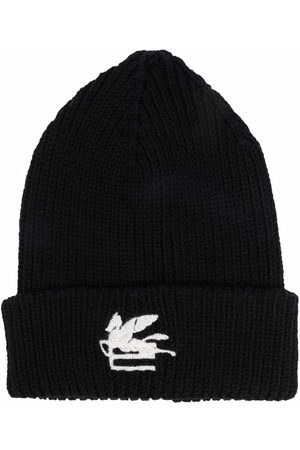 Etro Men Beanies - Embroidered-logo knitted beanie