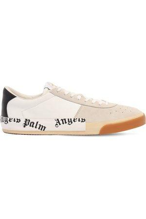 Palm Angels New Vulcanized Suede & Leather Sneakers