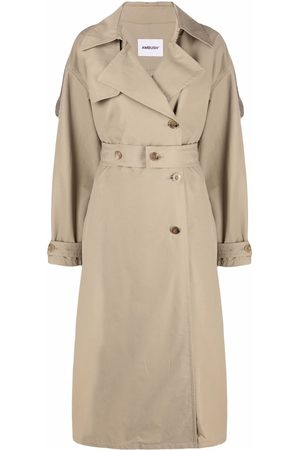 AMBUSH Women Trench Coats - SIDE SLIT TRENCH NATURAL NO COLOR