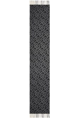 Burberry Scarves - Reversible check monogram-pattern scarf