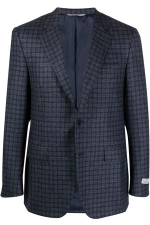 CANALI Checked wool suit jacket