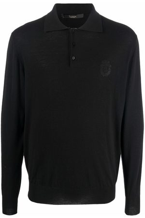 BILLIONAIRE Men Polo Shirts - Embroidered-logo knitted polo shirt