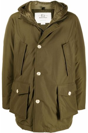 Woolrich Men Coats - Button-up padded hooded coat