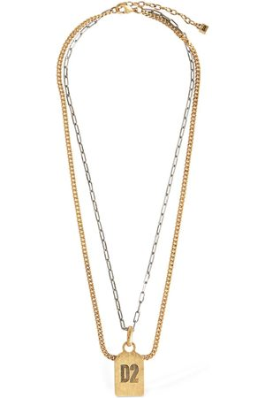Dsquared2 D2 Double Two Tone Chain Necklace