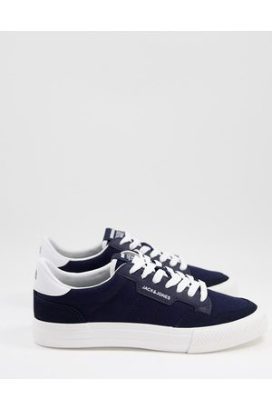 jack & jones Canvas trainers with PU inserts in
