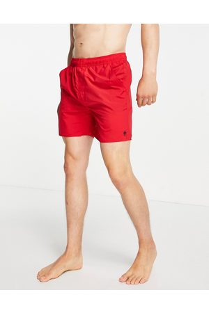 French Connection Tas contrast swim shorts in red and marine
