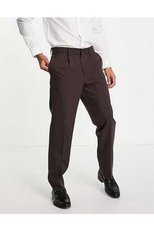 River Island Men Pants - Relaxed suit trousers in