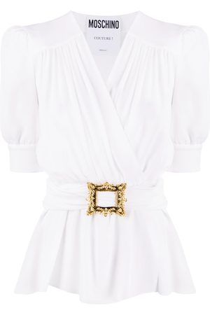 Moschino Wrap-style belted blouse
