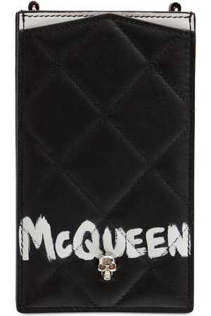 ALEXANDER MCQUEEN Quilted Leather Phone Case W/ Chain