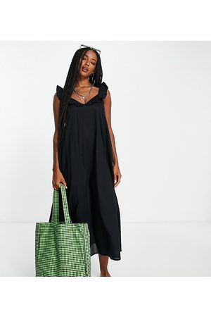 ONLY Women Midi Dresses - Exclusive midi beach dress with frill detail in