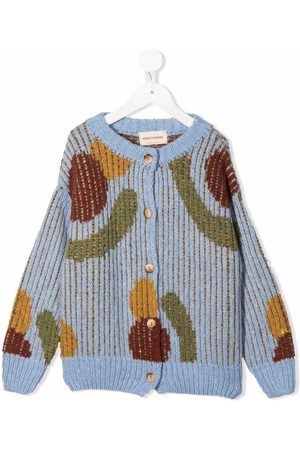 Bobo Choses Abstract pattern-print knitted cardigan