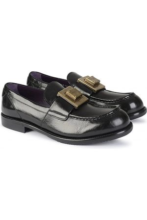 Dolce & Gabbana GOLD PLAQUE LOAFERS