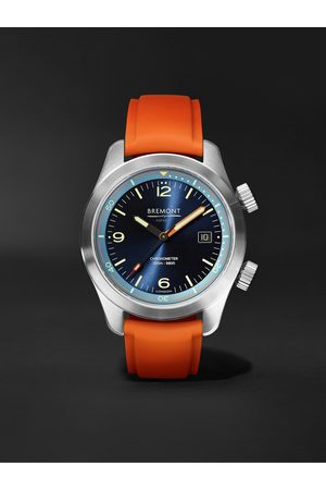 Bremont Men Watches - Argonaut Azure Automatic 42mm Stainless Steel and Rubber Watch