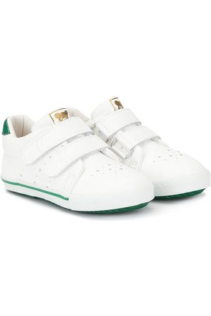 Miki House Touch strap low top trainers
