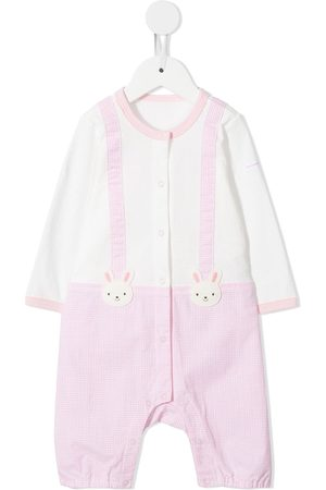 Miki House Overall-detailed romper