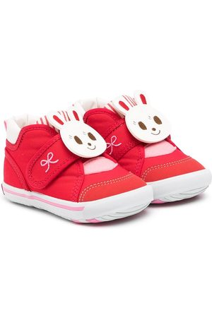 Miki House Touch-strap bunny sneakers