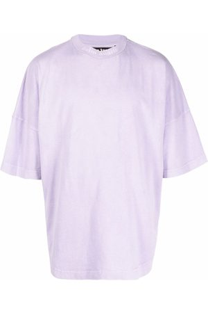 Palm Angels GD CLASSIC LOGO OVER TEE LILAC WHITE