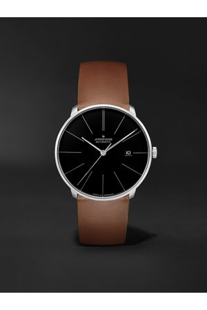 Junghans Men Watches - Meister Fein Automatic 39.5mm Stainless Steel and Leather Watch, Ref. No. 027/4154.00