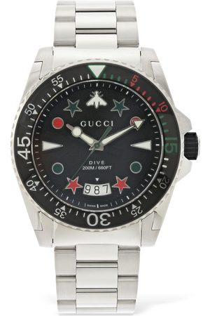 Gucci 45mm Dive Xl Watch W/ Rubber