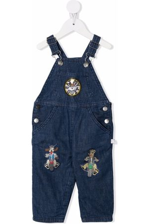 Stella McCartney Embroidered patch denim dungarees