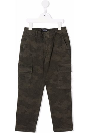Dondup Kids Boys Cargo Pants - Camouflage-print cargo trousers