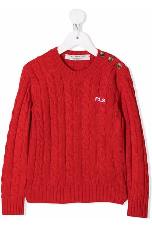 Philosophy Di Lorenzo Serafini Kids Girls Jumpers - Embroidered cable-knit jumper