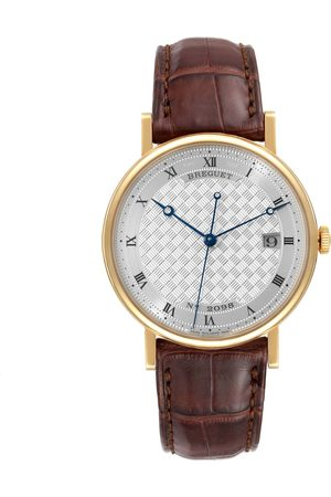 Breguet Classique 18K Yellow Gold Silver Dial Mens Watch 5177 Tag