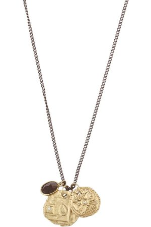 M. COHEN 18K And Silver Coin Necklace