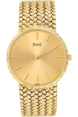 PIAGET 18K Yellow Gold Champagne Dial Vintage Mens Watch 9065