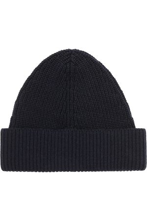 Maison Margiela Ribbed Knit Cotton And Wool Blend Beanie