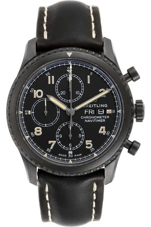 Breitling Navitimer Chronograph Black Steel Mens Watch A13314 Box Papers