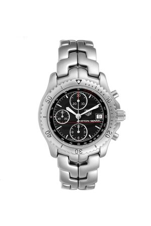 Tag Heuer Link Steel Black Dial Chronograph Mens Watch Ct2114 Card