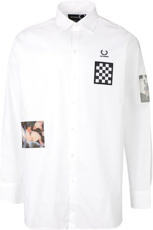 Fred Perry Oversized Patched Long Sleeve Shirt