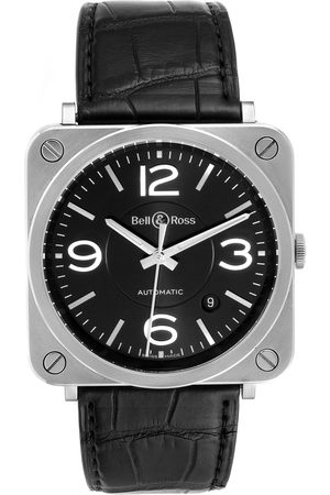 Bell & Ross Officer Black Dial Automatic Steel Mens Watch Brs92 Box Card