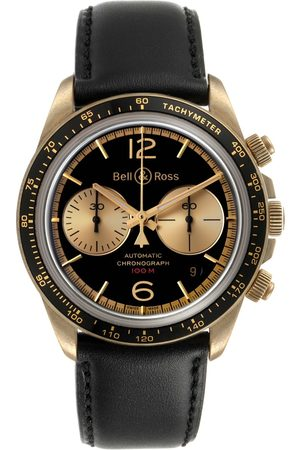 Bell & Ross Heritage Back Dial Chronograph Bronze Watch Brv294 Box Card