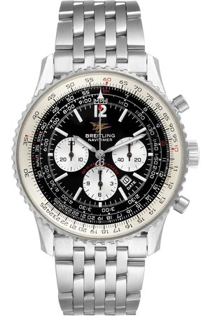 Breitling Navitimer 50Th Anniversary Black Dial Steel Mens Watch A41322