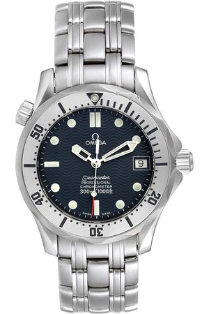 Omega Seamaster Midsize 36 Blue Dial Steel Mens Watch 2552.80.00 Card