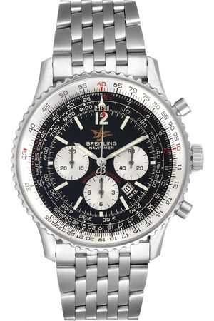 Breitling Navitimer 50Th Anniversary Black Dial Mens Watch A41322 Box Papers