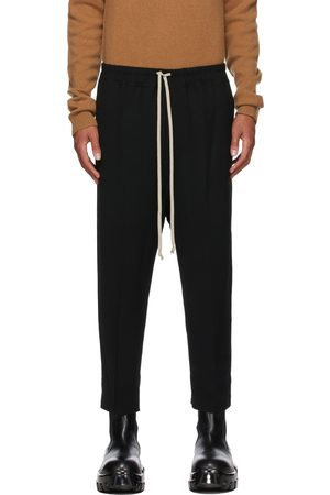 Rick Owens Wool Cropped Drawstring Astaires Trousers