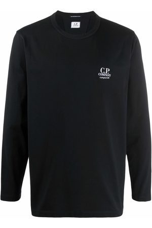 C.P. Company Long-sleeved embroidered logo top