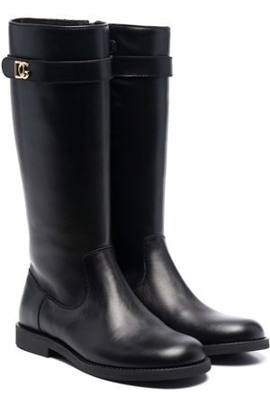 Dolce & Gabbana Leather knee-high riding boots