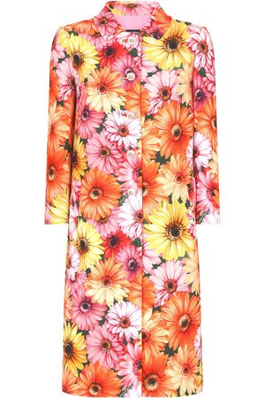 Dolce & Gabbana Floral-print buttoned coat