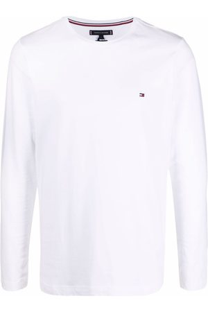 Tommy Hilfiger Logo-embroidered long-sleeve T-shirt
