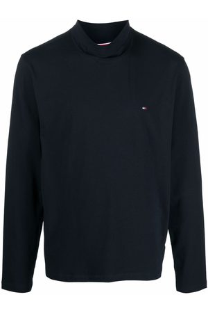 Tommy Hilfiger Logo-embroidered roll-neck T-shirt